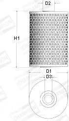 Filtre a huile CHAMPION X103/606 (X1)