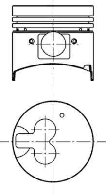 Piston moteur KOLBENSCHMIDT 40067600 (X1)