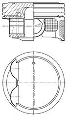 Piston moteur KOLBENSCHMIDT 41514620 (X1)