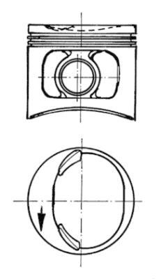 Piston moteur (Jeu de 4)