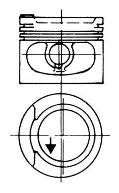 Piston moteur KOLBENSCHMIDT 93928620 (X1)