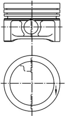 Piston moteur KOLBENSCHMIDT 99927610 (X1)