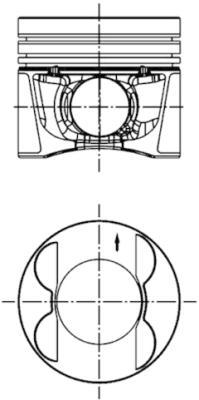 Piston moteur KOLBENSCHMIDT 99941630 (X1)