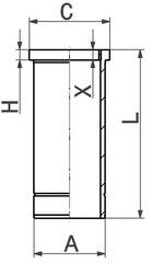 Chemise de cylindre KOLBENSCHMIDT 89919110 (X1)