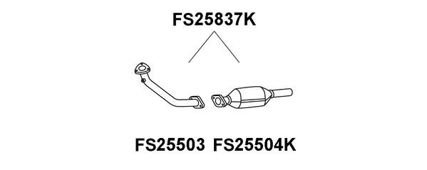 Catalyseur Faurecia FS25837K (X1)