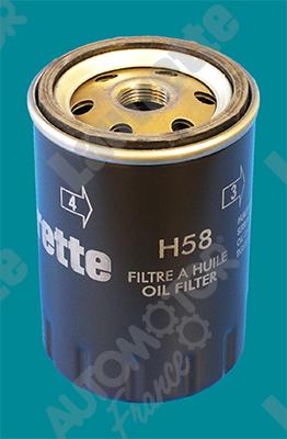 Filtre a huile AUTOMOTOR France LATH58 (X1)