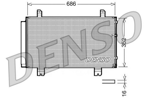 Condenseur / Radiateur de climatisation NPS DCN51002 (X1)