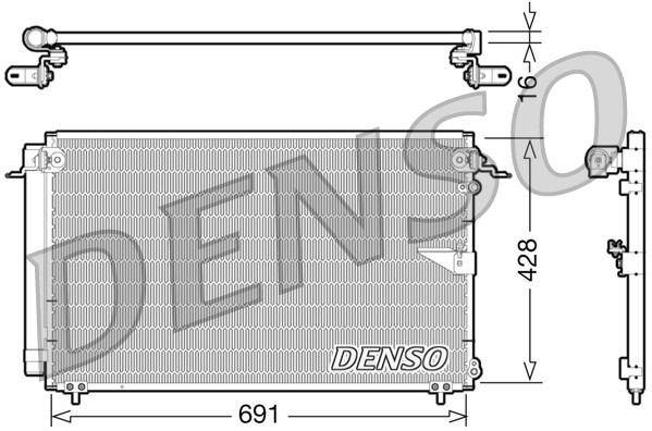 Condenseur / Radiateur de climatisation NPS DCN51008 (X1)