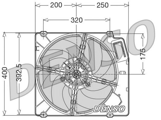 Ventilateur de radiateur NPS DER01003 (X1)
