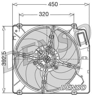 Ventilateur de radiateur NPS DER09028 (X1)