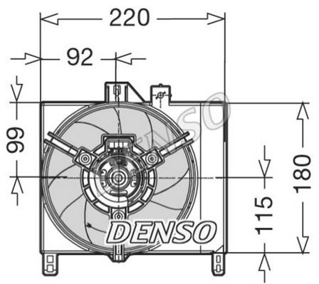 Ventilateur de radiateur NPS DER16003 (X1)