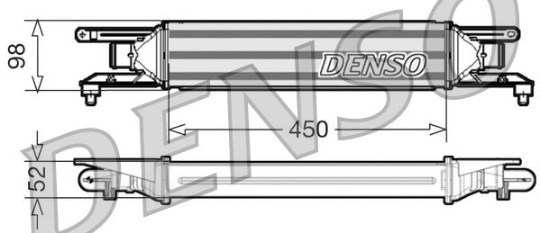 Intercooler radiateur de turbo NPS DIT01001 (X1)