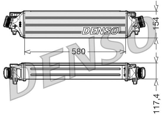 Intercooler radiateur de turbo NPS DIT01002 (X1)