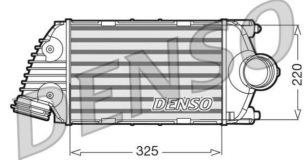 Intercooler radiateur de turbo NPS DIT28016 (X1)
