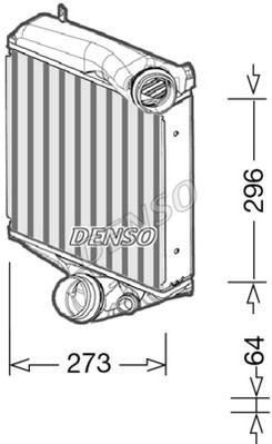 Intercooler radiateur de turbo NPS DIT28022 (X1)