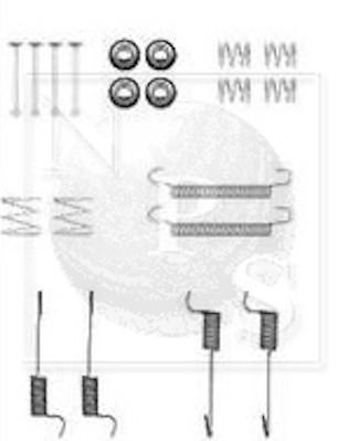 Kit de montage machoires de frein NPS H351I44 (X1)