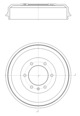 Tambour de frein arriere NPS I340U03 (X1)