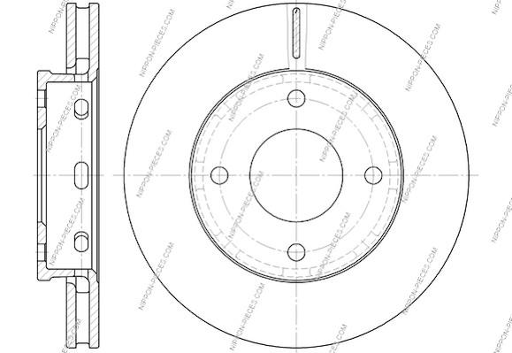 Disque de frein avant NPS M330I68 (X1)