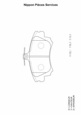 Plaquettes de frein avant NPS M360I15 (X1)