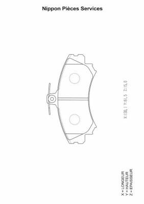 Plaquettes de frein avant NPS M360I64 (X1)