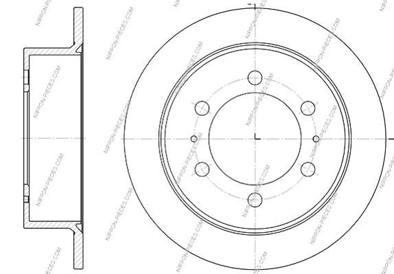 Disque de frein arriere NPS S331G01 (X1)