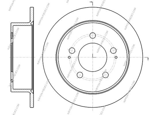 Disque de frein arriere NPS S331G02 (X1)