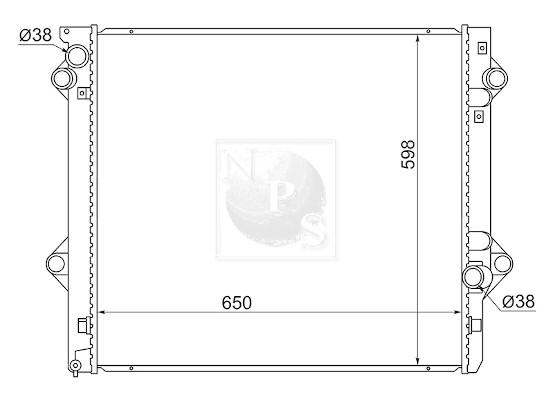 Boule, crochet d'attelage NPS S790U09F (X1)