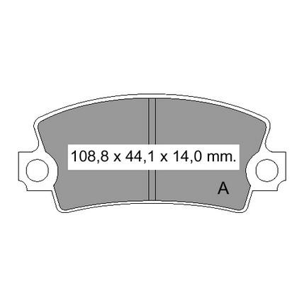 Plaquettes de frein VEMA 831310 (X1)