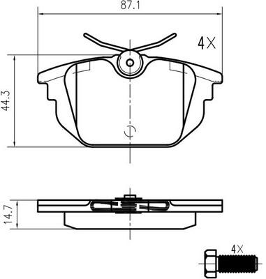 Plaquettes de frein VEMA K619600 (X1)