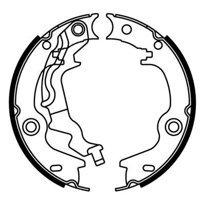 Jeu de mâchoires de frein de frein à main ABE C00525ABE (X1)