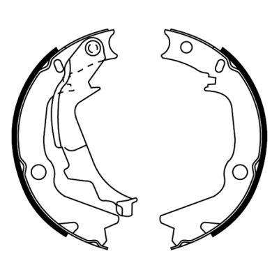 Jeu de mâchoires de frein de frein à main ABE C00526ABE (X1)