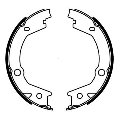Jeu de mâchoires de frein de frein à main ABE C00527ABE (X1)