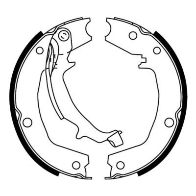 Jeu de mâchoires de frein de frein à main ABE C00528ABE (X1)