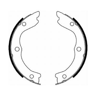 Jeu de mâchoires de frein de frein à main ABE C01059ABE (X1)