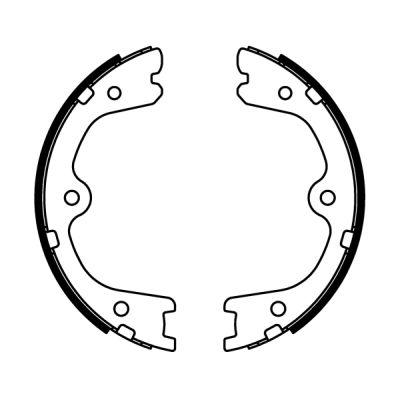 Jeu de mâchoires de frein de frein à main ABE C01064ABE (X1)
