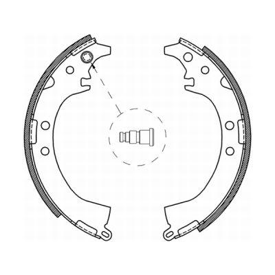 kit de frein arrière simple ou prémonté ABE C02061ABE (X1)
