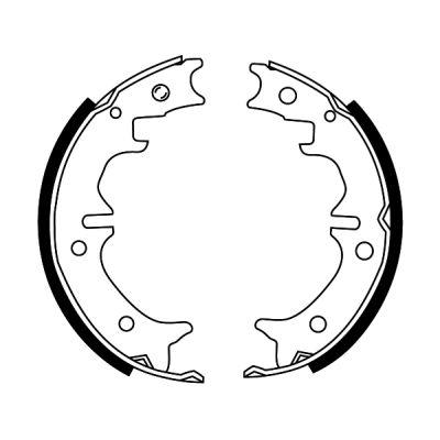 Jeu de mâchoires de frein de frein à main ABE C02081ABE (X1)