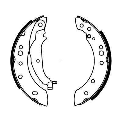 kit de frein arrière simple ou prémonté ABE C05063ABE (X1)