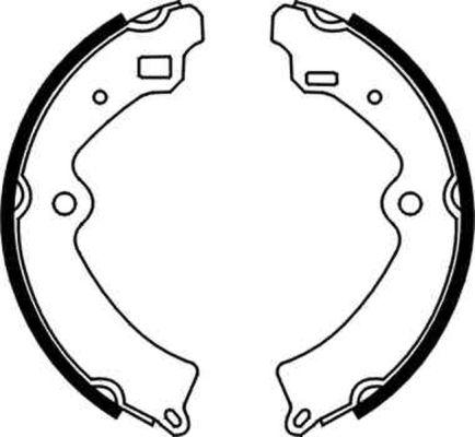 kit de frein arrière simple ou prémonté ABE C08010ABE (X1)