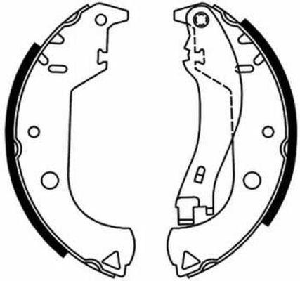 kit de frein arrière simple ou prémonté ABE C0F020ABE (X1)