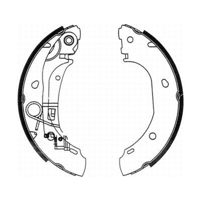 kit de frein arrière simple ou prémonté ABE C0F025ABE (X1)