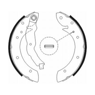 kit de frein arrière simple ou prémonté ABE C0R011ABE (X1)