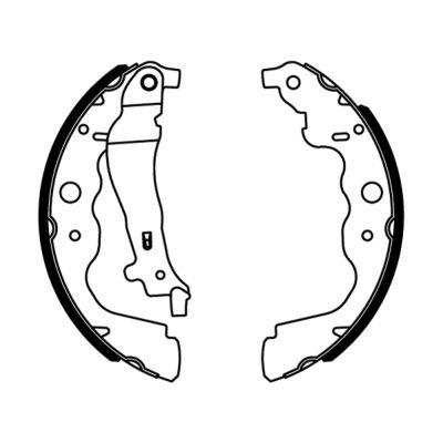 kit de frein arrière simple ou prémonté ABE C0R031ABE (X1)