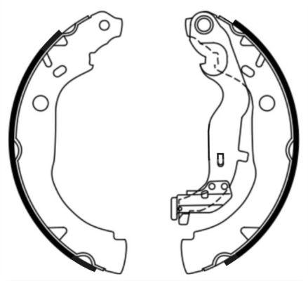 kit de frein arrière simple ou prémonté ABE C0R033ABE (X1)