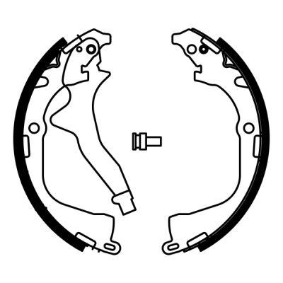 kit de frein arrière simple ou prémonté ABE C0W023ABE (X1)