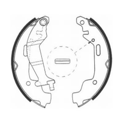 kit de frein arrière simple ou prémonté ABE C0X014ABE (X1)