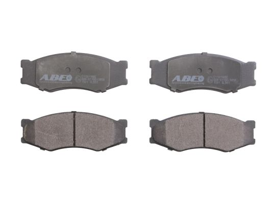 Plaquettes de frein avant ABE C11011ABE (X1)