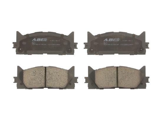 Plaquettes de frein avant ABE C12120ABE (X1)