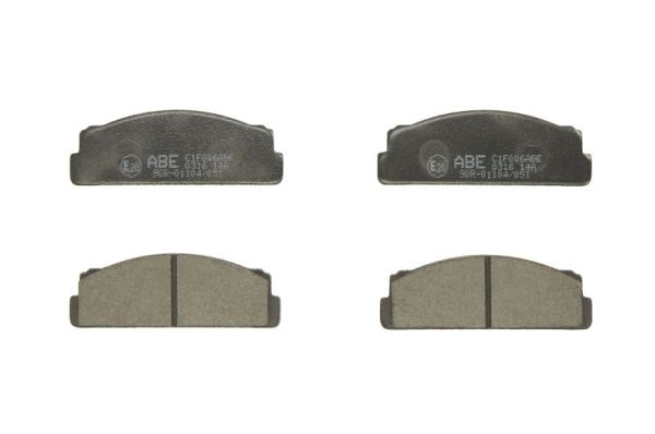 Plaquettes de frein avant ABE C1F006ABE (X1)