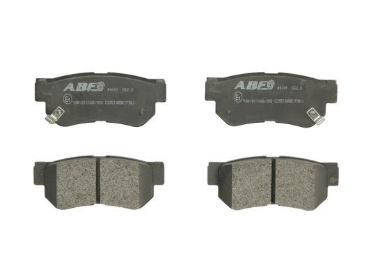 Plaquettes de frein arriere ABE C20510ABE (X1)